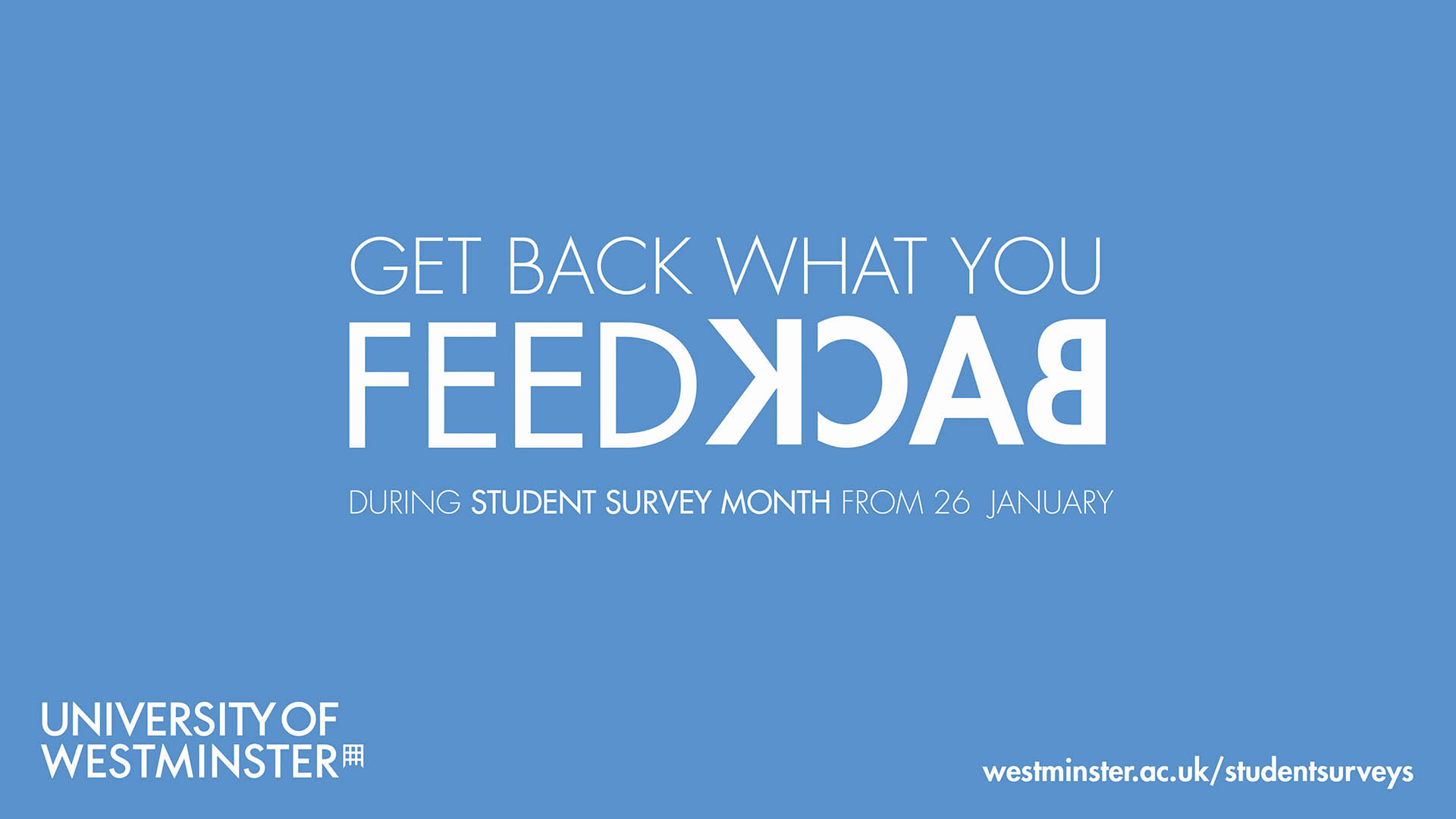 Promotion campaign for the university annual student survey