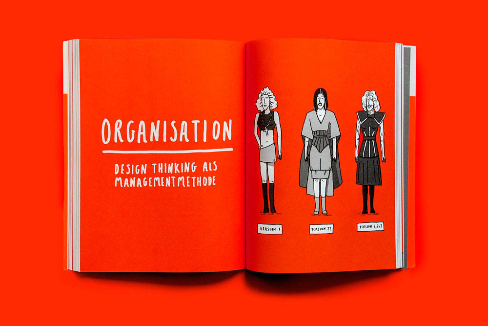 Visualising design thinking, part of a book created with Erik Spiekermann