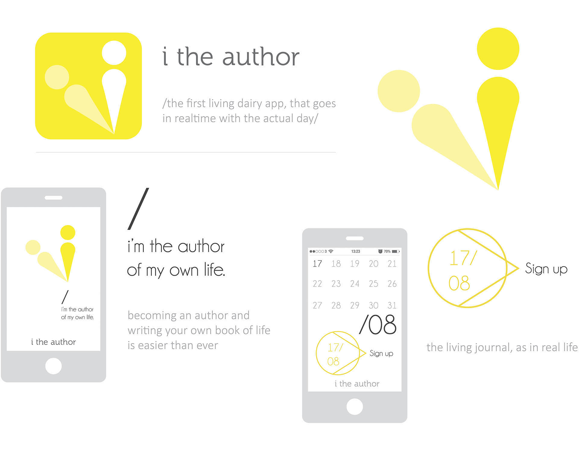i the author, a living dairy app, that goes in realtime with the actual day