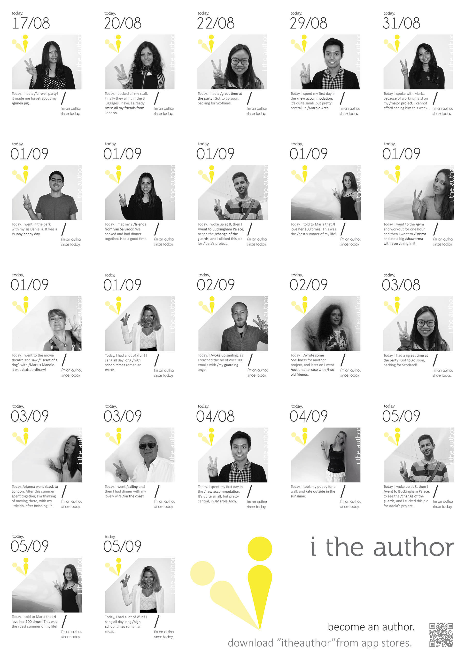 i the author, launch poster campaign