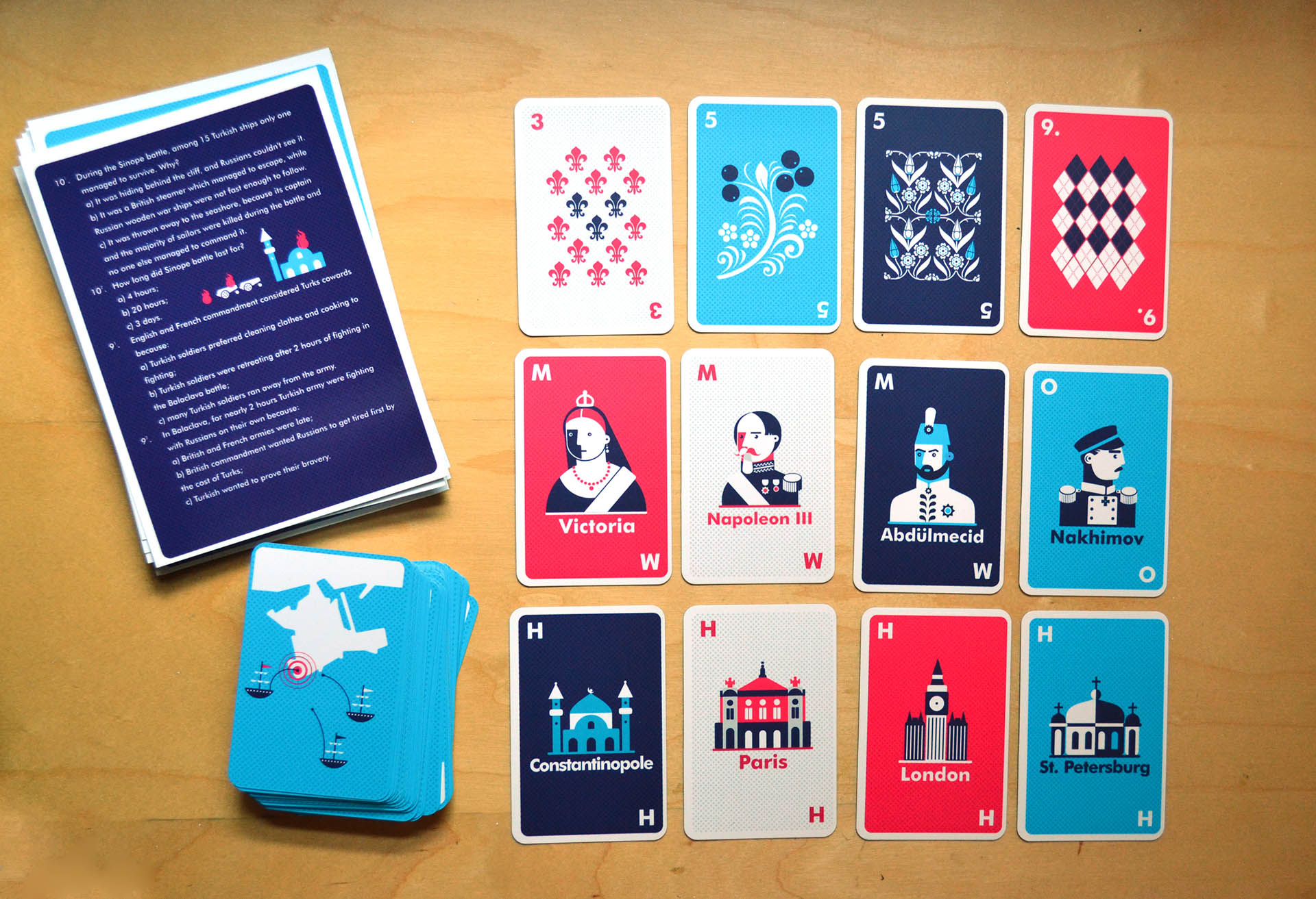 The deck of cards features personalities of Russian, British, Ottoman and Second French Empires of 1853-56