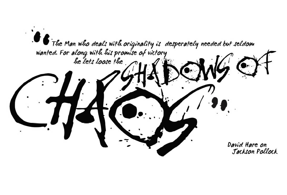 Lettering for book Inside the Action, Jackson Pollock
