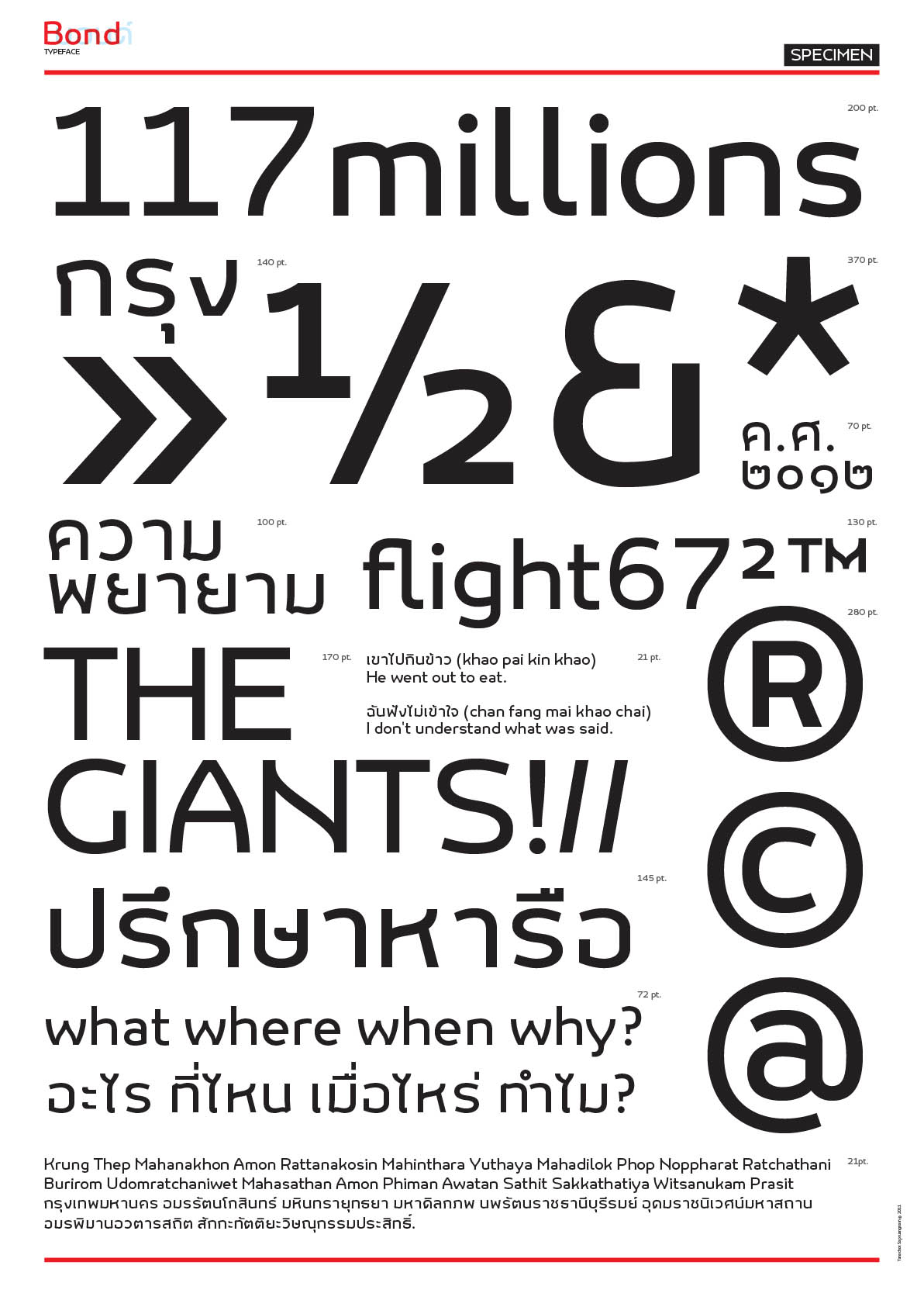 Typeface design and promotional material for Bond
