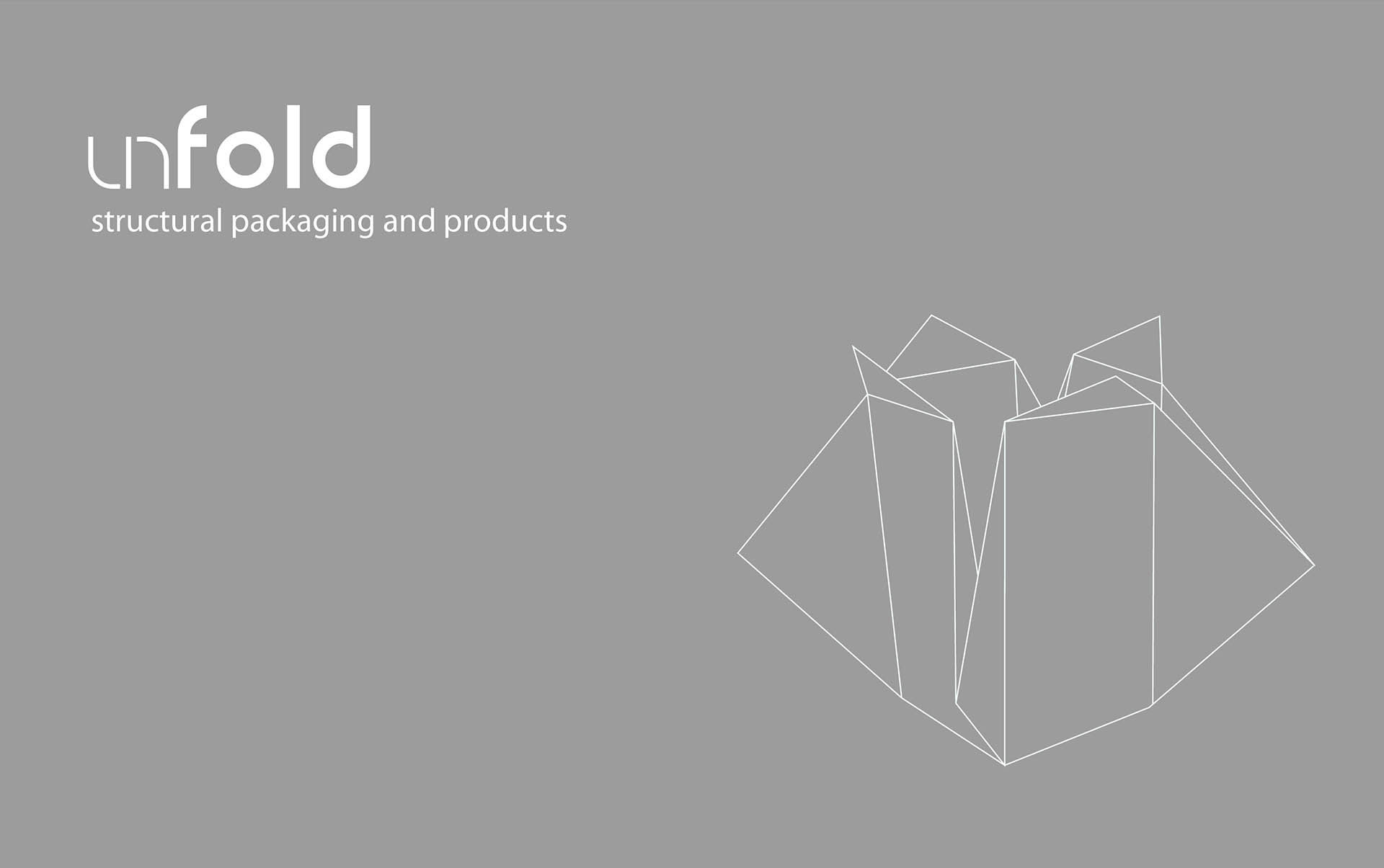 Brand design and promotion for Unfold an experimental packaging concept