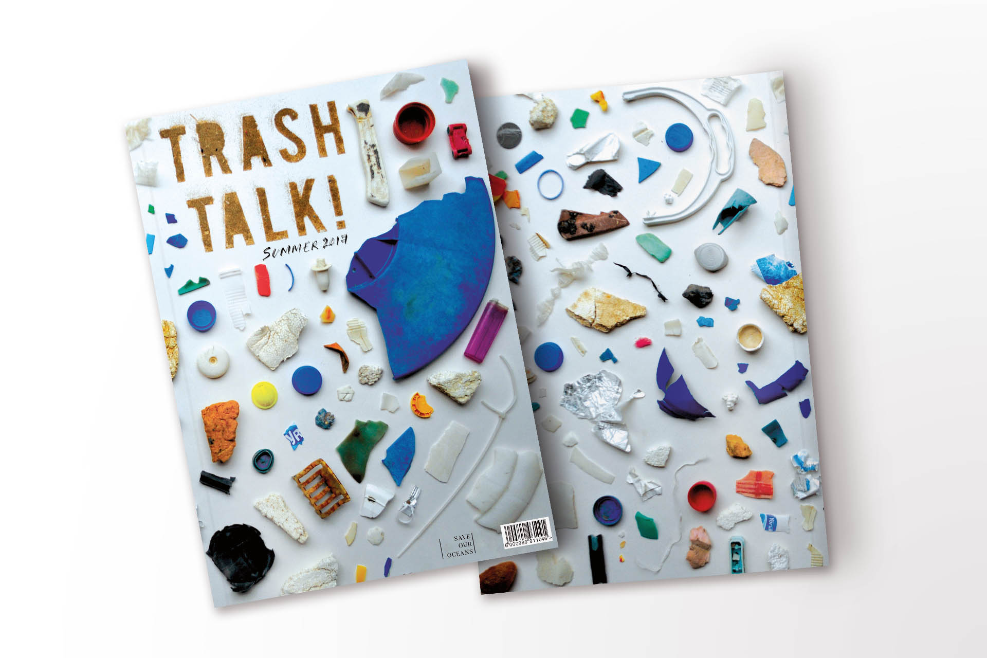 Trash Talk magazine cover design for Save Our Oceans