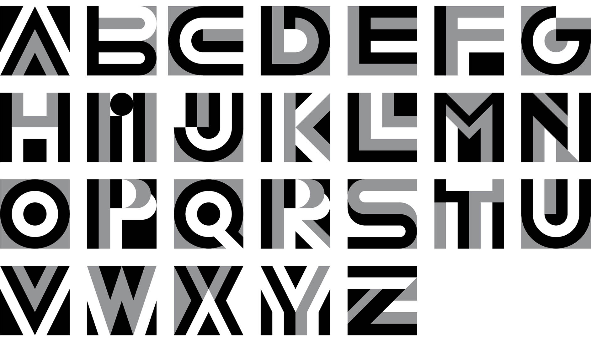 Experimental typeface design Letterforms